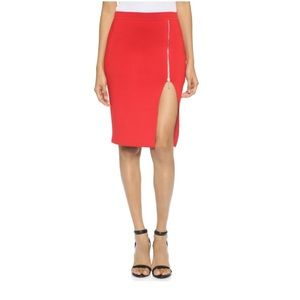 Alexander Wang red pencil skirt with zipper